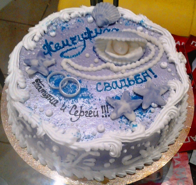 торт жемчужная свадьба фото